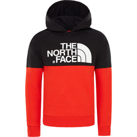 The North Face Drew Peak Raglan Pullover Hoodie Jungs fiery red/tnf black